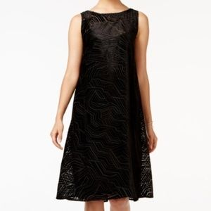 NWT Nordstrom Black Velvet Burnout Cocktail Dress